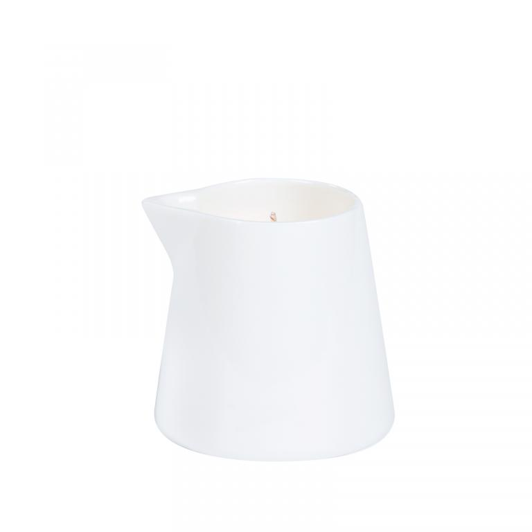 massage candle white